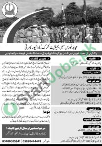 Mujahid Force Jobs Soldier and Clerical Staff (Male Only) 2020