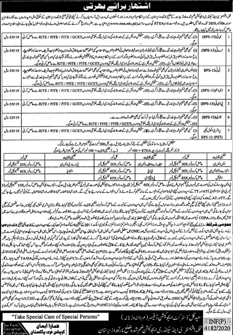 Elementary and Secondary Education Department Jobs 2020
