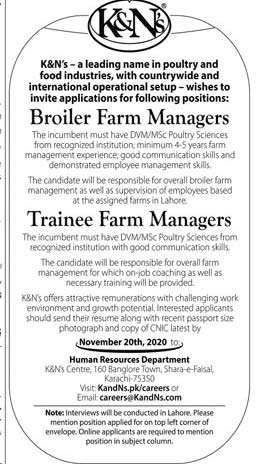 K&Ns Jobs 2020