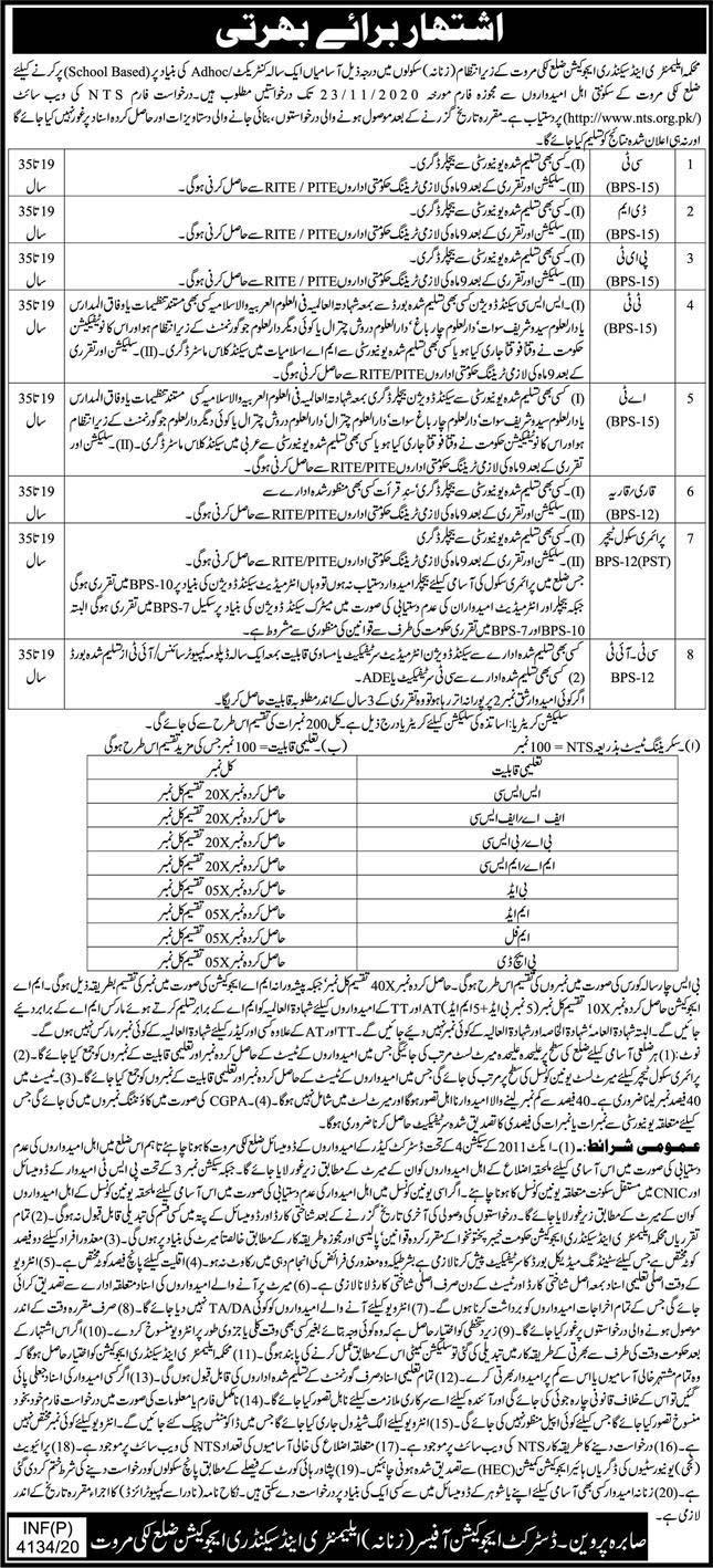 www.nts.org.pk Jobs 2020