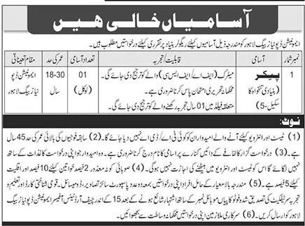 Ammunition Depot Lahore Jobs 2020