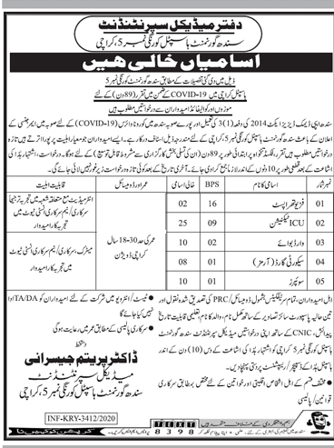 Sindh Government Hospital Jobs 2020